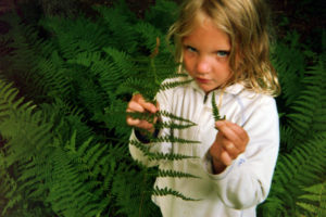 Marie with Ferns