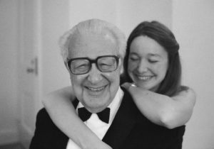 Anne Fadiman with Clifton Fadiman on his eightieth birthday.